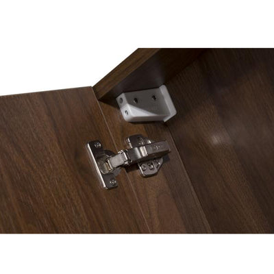 MELA - PORTER 750 Walnut Mirror Cabinet with Doors