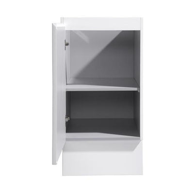 MELA - LIMPIAR 450 Gloss White Laundry Base Cabinet with Door