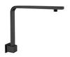 NERO -  Square Swivel Shower Arm Black