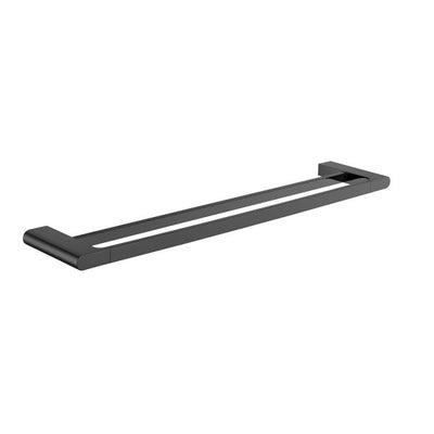 NERO - ECCO Double Towel Rail 600mm