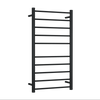 THERMORAIL - SR19MB Matt Black Straight Round Ladder Heated Towel Rail