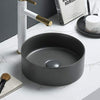 MELA - DAVISSON Matte Grey Above Counter Basin