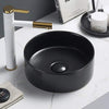 MELA - DAVISSON Matte Black Above Counter Basin