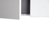 MELA - LIMPIAR 900 Gloss White Laundry Wall Cabinet with Doors