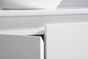 MELA - CLARK 600 Gloss White Wall Hung Vanity with Doors