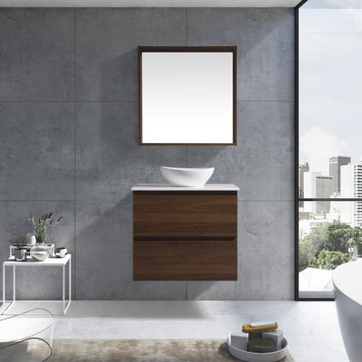 MELA - CLARK 900 Walnut Wall Hung Vanity with Drawers