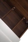 MELA - PORTER 1200 Walnut Mirror Cabinet with Doors