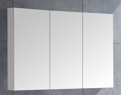 MELA - PORTER 1200 Gloss White Mirror Cabinet with Doors
