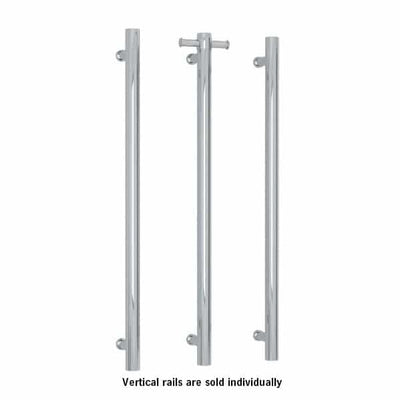 THERMORAIL - VS900H Straight Round Vertical Single Bar Heated Towel Rail