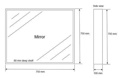 MELA - VINA 750 Walnut Box Frame Mirror