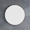 MELA - VINA 700 Plain Round Mirror Black