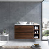 MELA - CLARK 1200 Walnut Wall Hung Vanity with 2 Drawers and Shelves