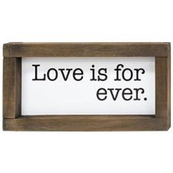 *2/Set, L Is For Love Framed Duo Signs