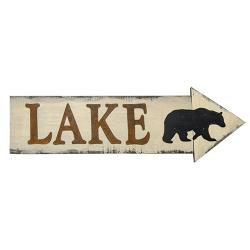 *Lake & Bear Arrow Sign