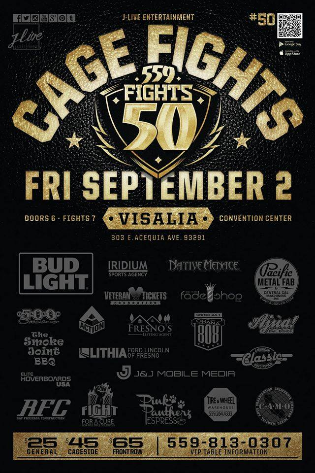 559 Fights 50 Poster