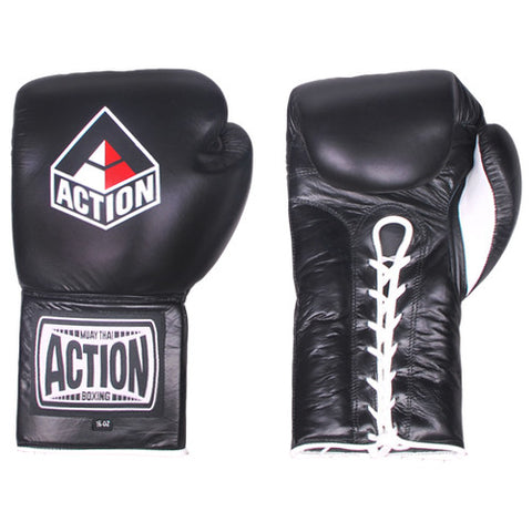Action Pro Lace Up Boxing Gloves