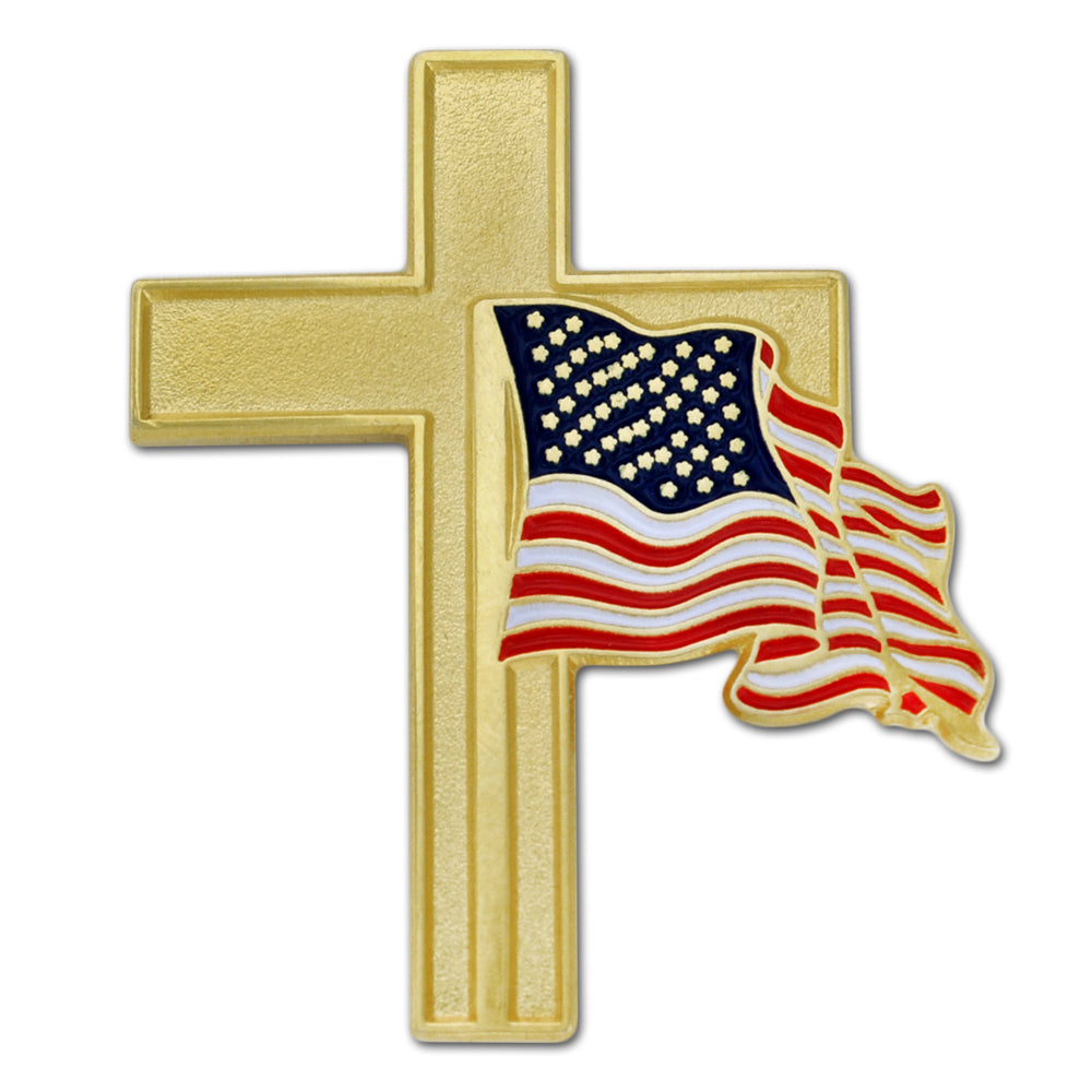 Flag Cross Lapel PinUSPatriotgear.com | Flag Cross Lapel Pin
