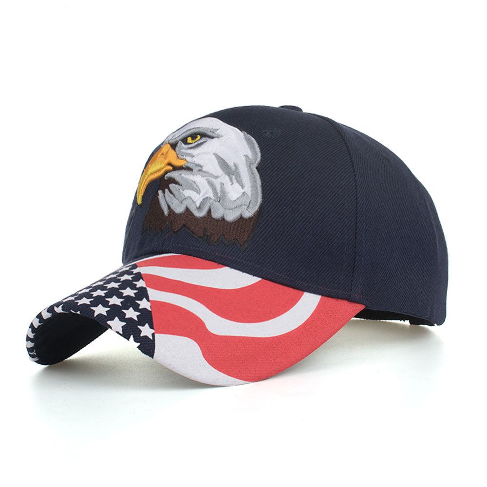 Bald Eagle American Flag Hat quarter view