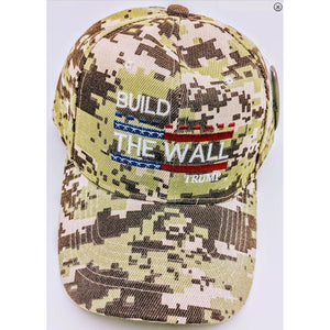 USPatriotgear.com | Build The Wall Hat (Camo)