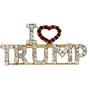 USPatriotgear.com | I Love Trump Bling Pin
