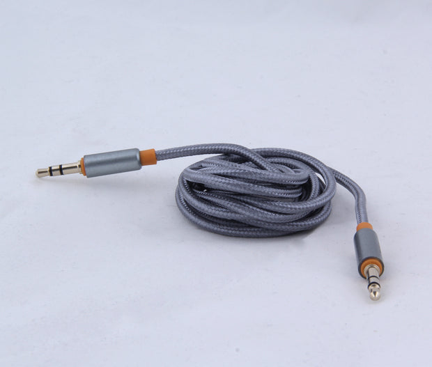 Boat Indestructible 3.5mm Gold Plated Connectors, Metallic Aux Audio Cable, 1.5 Meter (5 Feet)