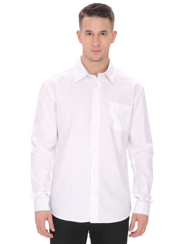 Men's Plain White Slim Fit Shirt