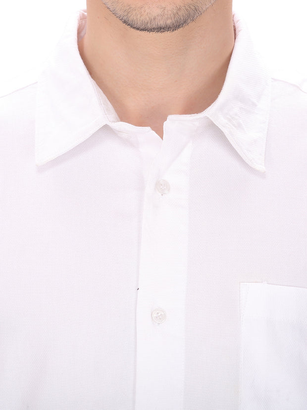 Men's Plain White Casual Shirt
