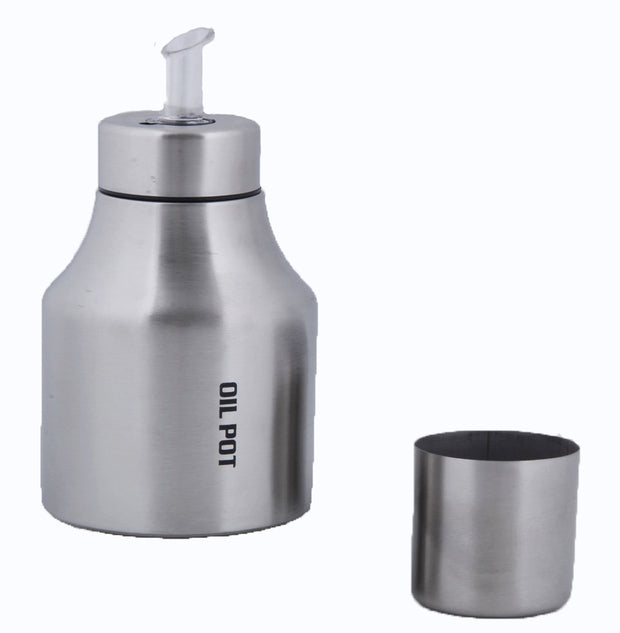 Stainless Steel Cooking Oil Dispenser Bottle 500 ml Vinegar Dispenser Bottle | Oil Pot 500 ml Set of 1