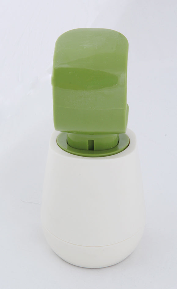 Soap Dispenser Liquid Wash Bottle White and Green container