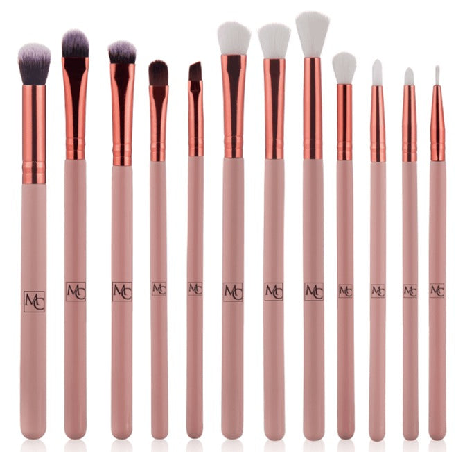 Rose Gold Brush Set 12 Brushes Including Easy Traveling  Professional Make Up Artist Synthetic Best Quality