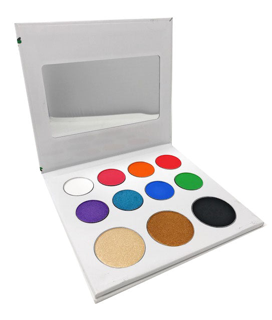 Pigmented Eyeshadow Palette, Blooming Palette by Miinachi Cosmetics 11 Shades Matte And Shimmer Foiled Eyeshadows Mirror
