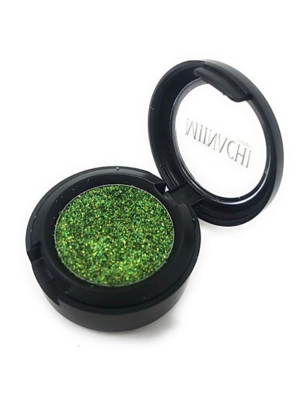 Single Pressed Glitter in the shade Alien, No Glue Needed, In Compact, Pigmented, No Fall Out, Glitter, Cosmetic Grade Glitter