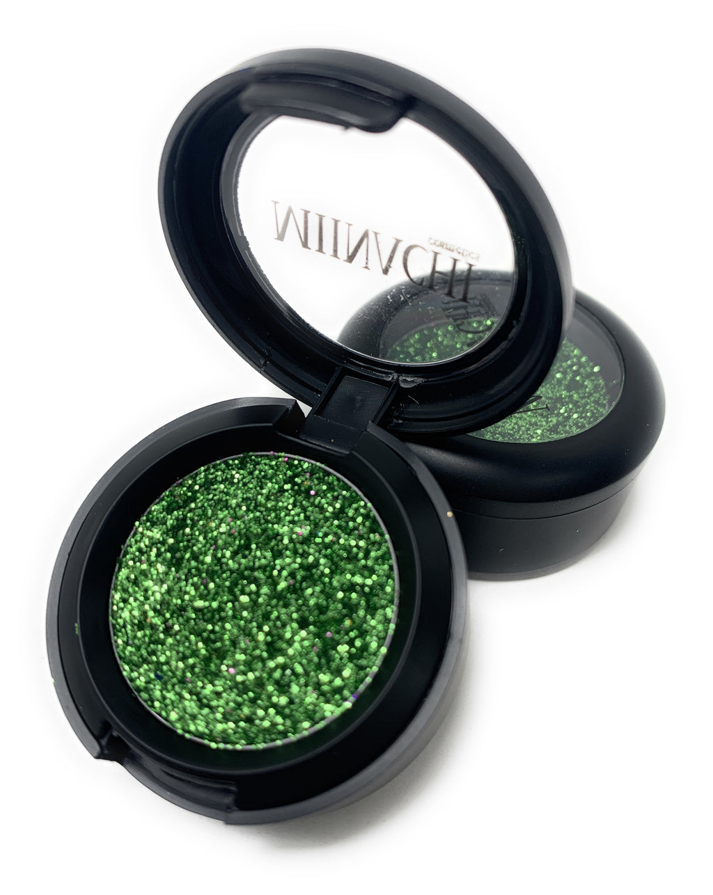 Single Pressed Glitter in the shade Poison Ivy, No Glue Needed, In Compact, Pigmented, No Fall Out, Glitter, Cosmetic Grade Glitter, Green
