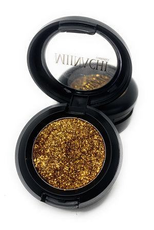 Single Pressed Glitter in the shade Copper, No Glue Needed, In Compact, Pigmented, No Fall Out, Glitter, Cosmetic Grade Glitter