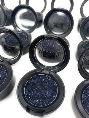 Single Pressed Glitter in the shade Galaxy, No Glue Needed, In Compact, Pigmented, No Fall Out, Glitter, Cosmetic Grade Glitter