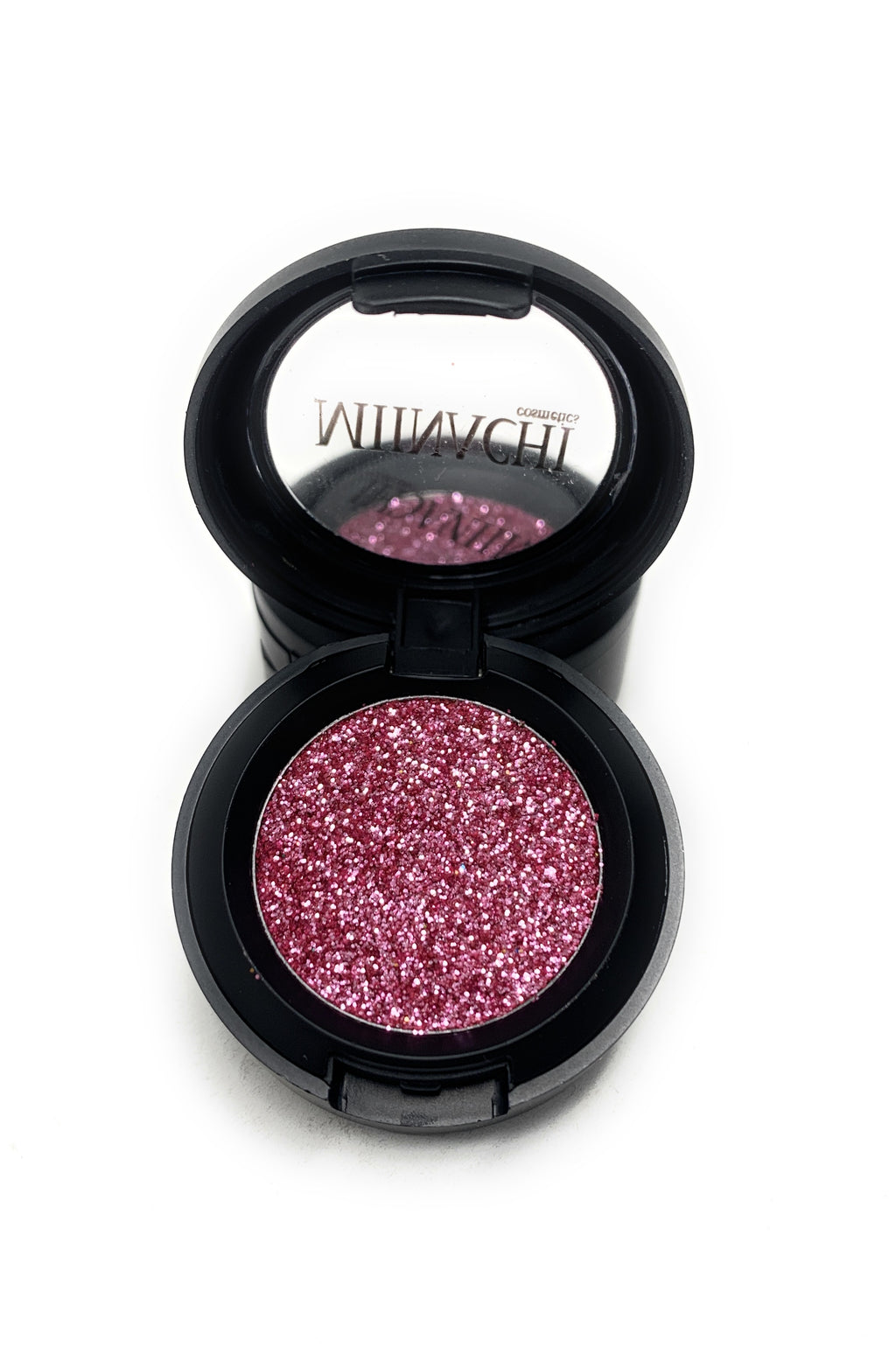 Single Pressed Glitter in the shade Cherry Bomb, No Glue Needed, In Compact, Pigmented, No Fall Out, Glitter, Cosmetic Grade Glitter