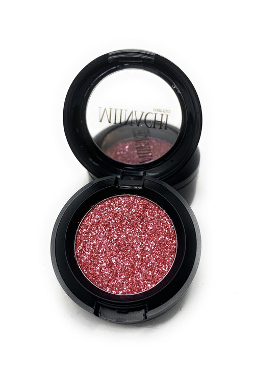 Single Pressed Glitter in the shade Pinky Promise, No Glue Needed, In Compact, Pigmented, No Fall Out, Glitter, Cosmetic Grade Glitter, Pink