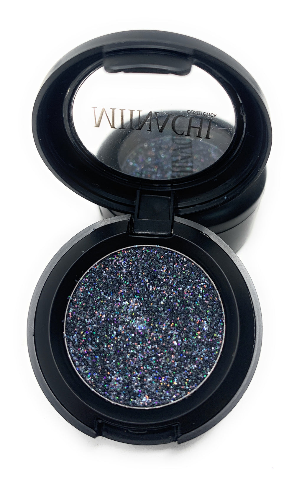 Single Pressed Glitter in the shade Silver, No Glue Needed, In Compact, Pigmented, No Fall Out, Glitter, Cosmetic Grade Glitter