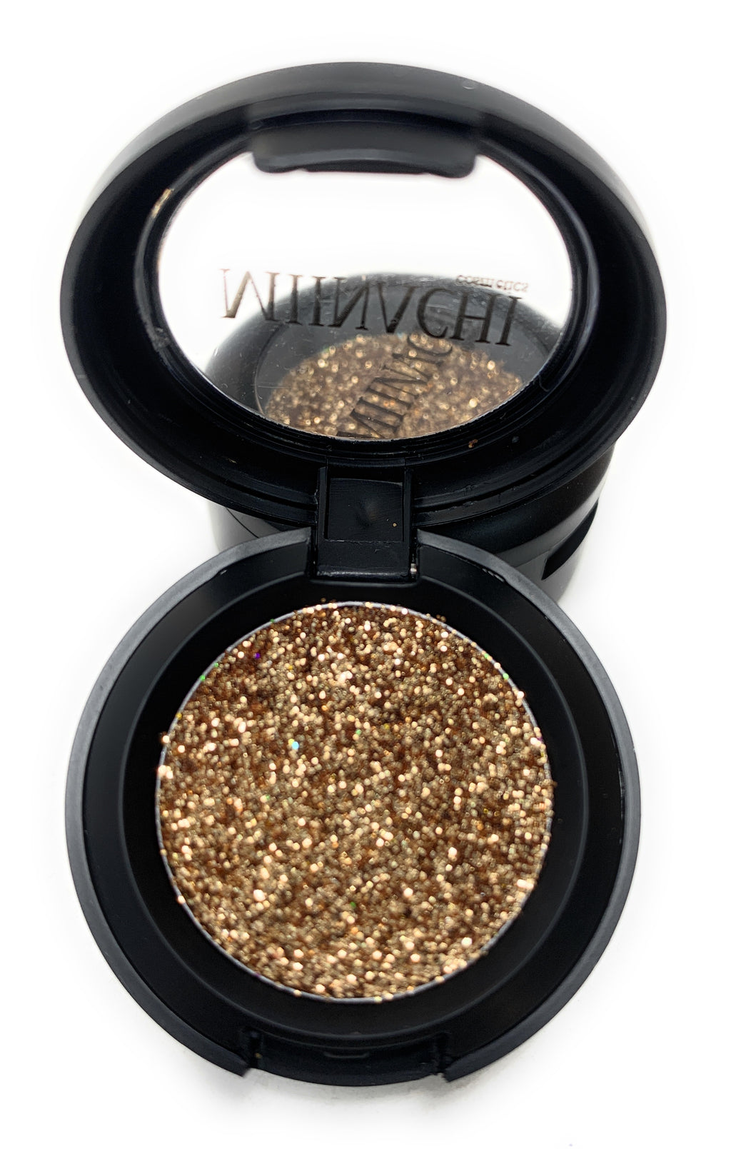 Single Pressed Glitter in the shade Champagne, No Glue Needed, In Compact, Pigmented, No Fall Out, Glitter, Cosmetic Grade Glitter