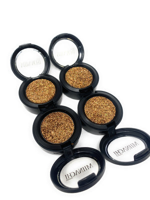 Single Pressed Glitter in the shade Gold, No Glue Needed, In Compact, Pigmented, No Fall Out, Glitter, Cosmetic Grade Glitter