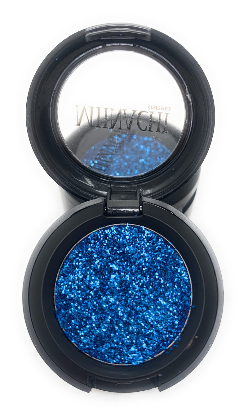 Single Pressed Glitter in the shade Krypton, No Glue Needed, In Compact, Pigmented, No Fall Out, Glitter, Cosmetic Grade Glitter