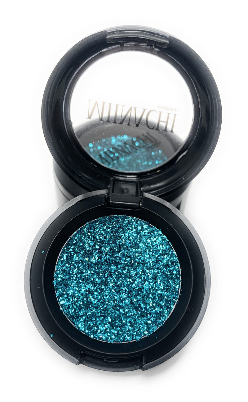 Single Pressed Glitter in the shade Gem, No Glue Needed, In Compact, Pigmented, No Fall Out, Glitter, Cosmetic Grade Glitter