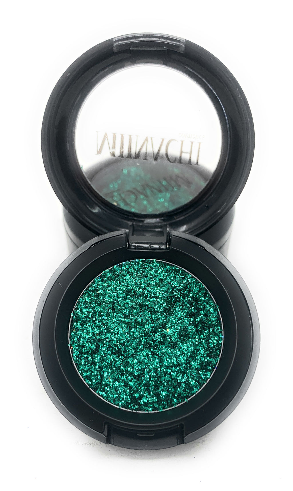 Single Pressed Glitter in the shade Hulk, No Glue Needed, In Compact, Pigmented, No Fall Out, Glitter, Cosmetic Grade Glitter