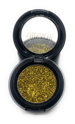 Single Pressed Glitter in the shade Barcelona, No Glue Needed, In Compact, Pigmented, No Fall Out, Glitter, Cosmetic Grade Glitter