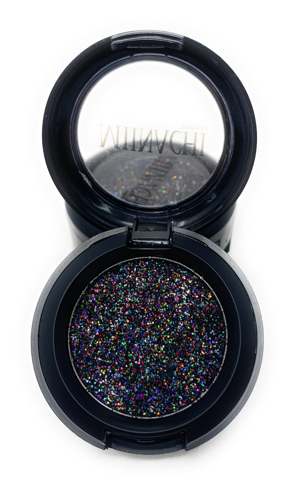 Single Pressed Glitter in the shade Masquerade, No Glue Needed, In Compact, Pigmented, No Fall Out, Glitter, Cosmetic Grade Glitter