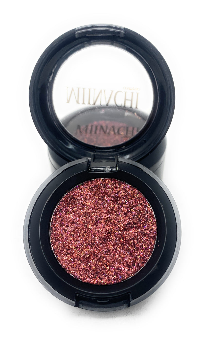 Single Pressed Glitter in the shade Rose Gold, No Glue Needed, In Compact, Pigmented, No Fall Out, Glitter, Cosmetic Grade Glitter