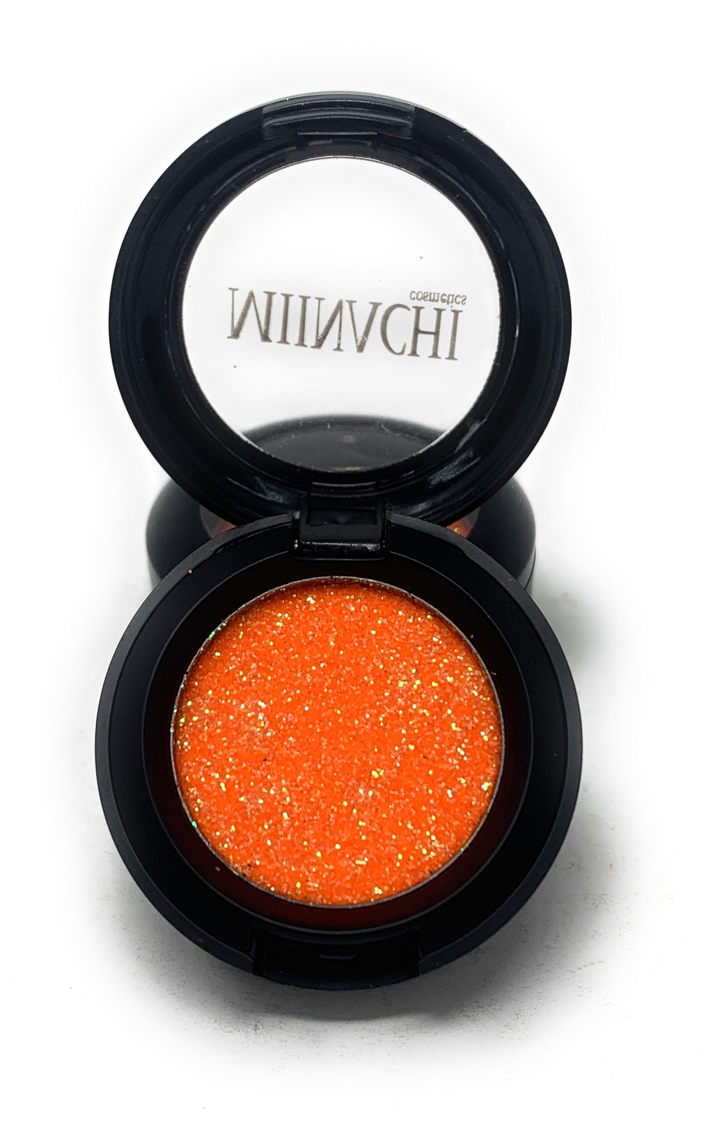 Single Pressed Glitter in the shade Peachy, No Glue Needed, In Compact, Pigmented, No Fall Out, Glitter, Cosmetic Grade Glitter, Peach