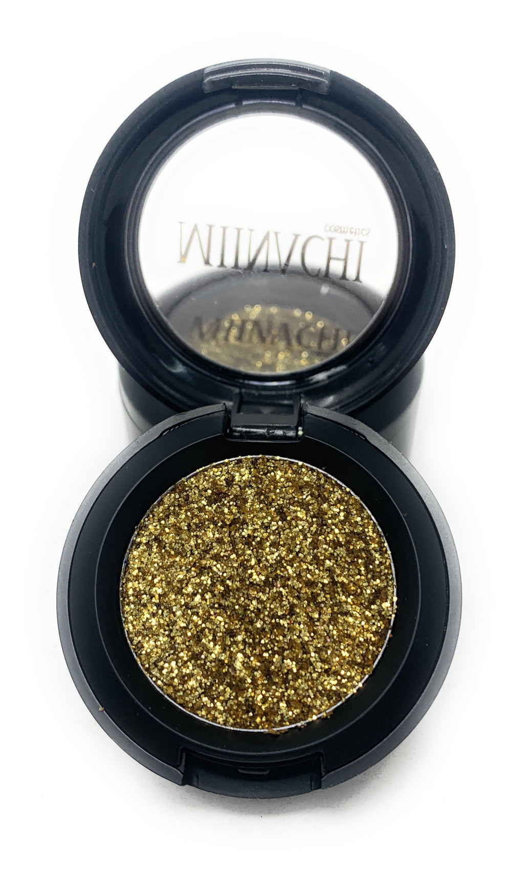 Single Pressed Glitter in the shade Innocence, No Glue Needed, In Compact, Pigmented, No Fall Out, Glitter, Cosmetic Grade Glitter