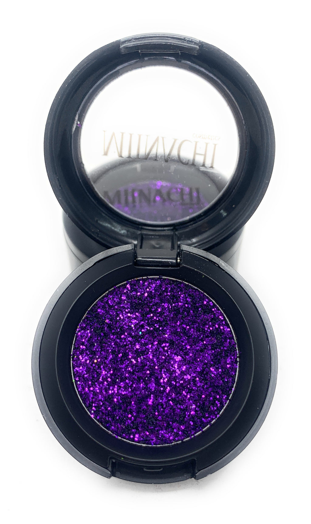 Single Pressed Glitter in the shade Passionate, No Glue Needed, In Compact, Pigmented, No Fall Out, Glitter, Cosmetic Grade Glitter, Purple