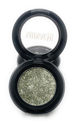 Single Pressed Glitter in the shade Smoke, No Glue Needed, In Compact, Pigmented, No Fall Out, Glitter, Cosmetic Grade Glitter